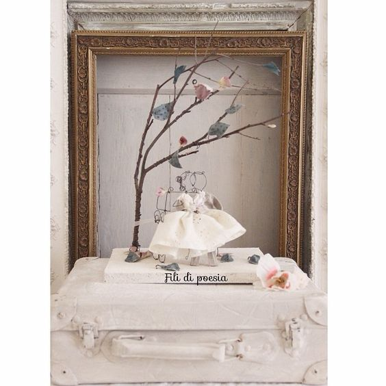 Always Love Wedding cake topper in fil di ferro by Fili di ...
