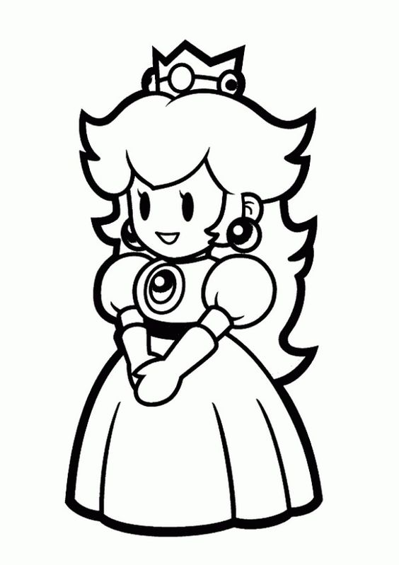 coloring pages princess peach - coloring pages to print princess peach and princess