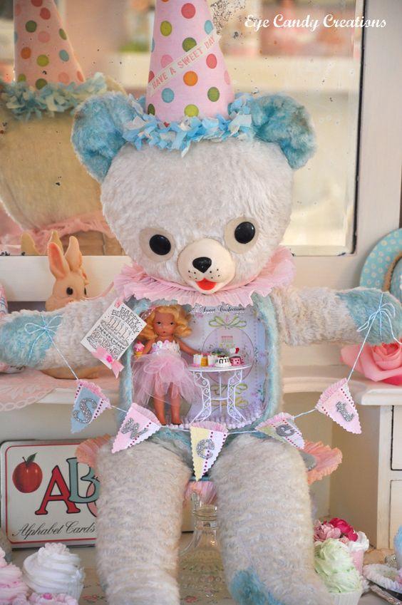 Birthday Party Stuffed Assemblage Bear