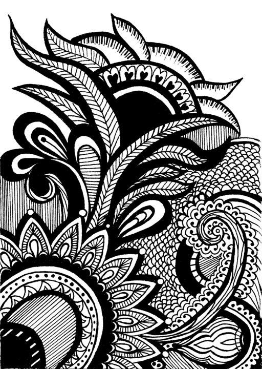 Print of original henna mehndi pattern drawing by for Decoration drawing
