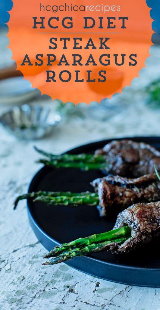 Hcg Beef Steak Rolls W Asparagus 168 Calorie Hcg Recipe For 500