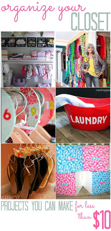 Closet Organization Projects (that you can do for less than $10!) - All Cheap Crafts