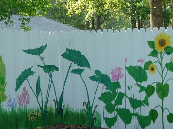 Painted Fences Corner Wall And Murals On Pinterest