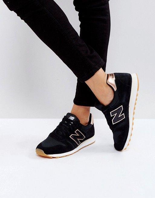 new balance 373 femme noir et or