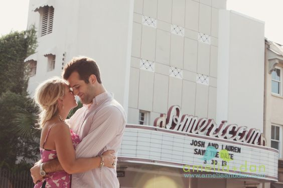 engagement session . downtown charleston sc
