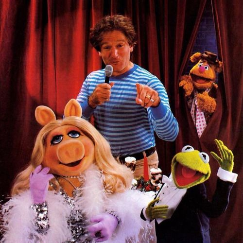 Robin Williams and the Muppets from Muppet Magazine, 1986.