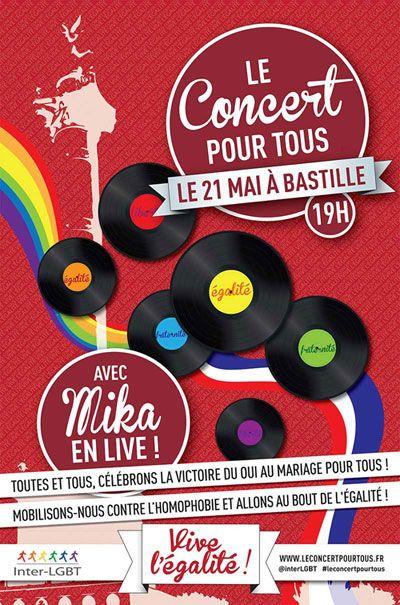 Gran concierto en París para celebrar la aprobación del matrimonio gay