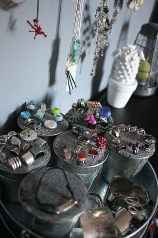 Pr sentoir bijoux ciloubidouille ciloubidouille pinterest bijoux and pots - Presentoire a bijoux ...