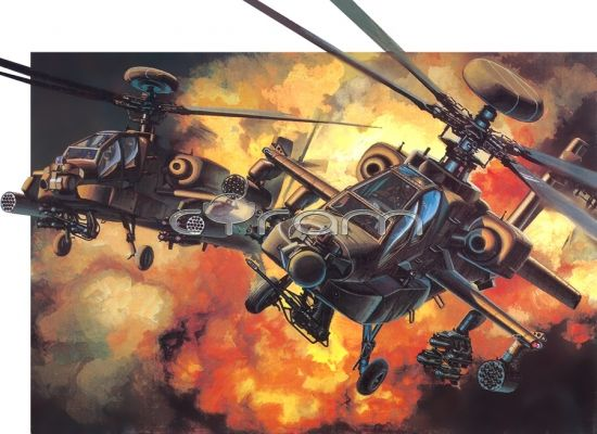 Boeing AH-64D Apache Longbow Kampfhubschrauber (Attack Helicopter)   Modellbausatz in Maßstab 1:72   http://www.cyram-entertainment.de/shop/products/Modellbau/Militaer/Luftfahrzeuge/Modern/Boeing-AH-64D-Apache-Longbow-Kampfhubschrauber.html