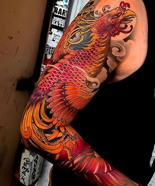 125 Best Sleeve Tattoos For Men Cool Ideas Designs 2020 Guide Phoenix Tattoo Phoenix Tattoo Sleeve Japanese Sleeve Tattoos