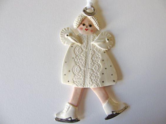 Ice Skating Angel Ornament by TinaFrancisDesigns on Etsy, $23.00