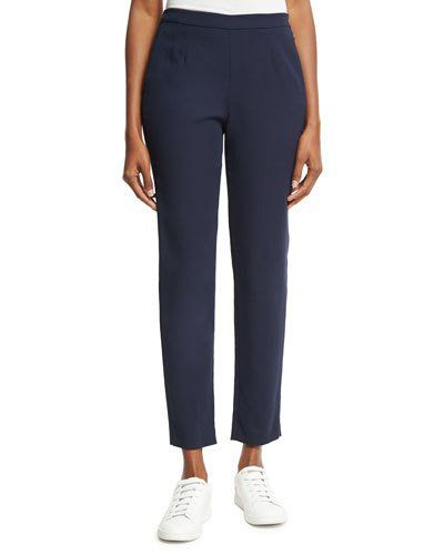 Lewin Straight-Leg Ankle Pants