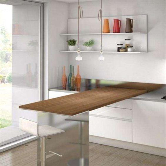 Arredare una cucina piccola e abitabile - Cucina con tavolo ...