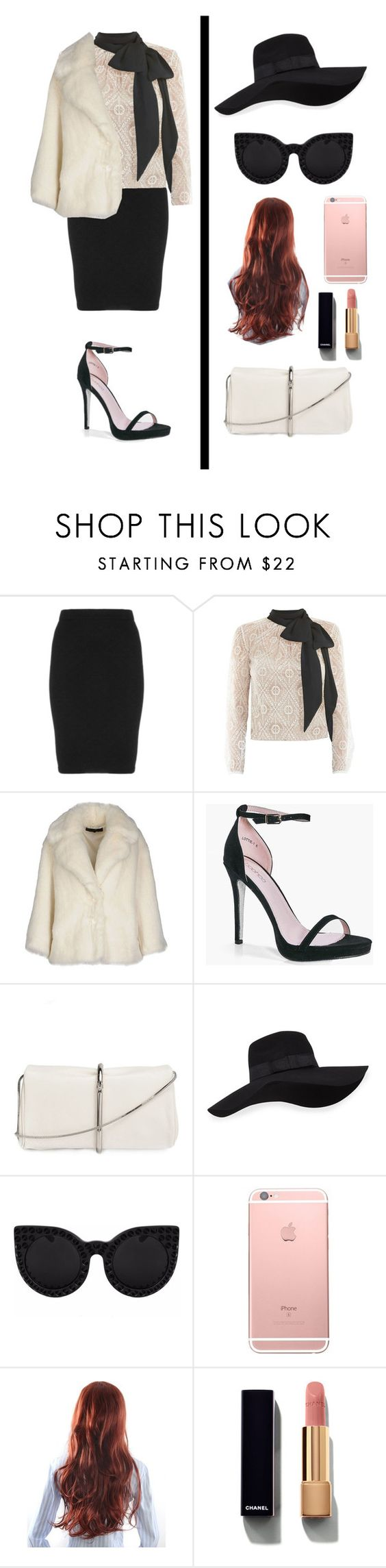 """""""Wonder Women"""" by mgldemartino ❤ liked on Polyvore featuring Manon Baptiste, Victor Xenia, American Retro, Boohoo, 3.1 Phillip Lim, San Diego Hat Co., Chanel, wonderwoman and intoyou"""