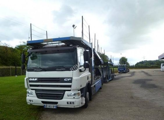 Ensemble camion remorque porte voiture Daf Cf75 occasion