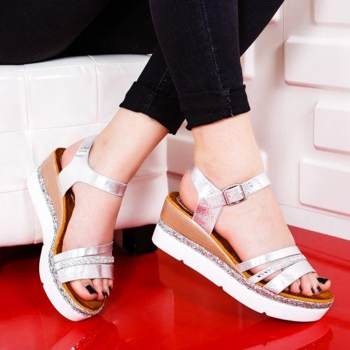 Sandale Dama Albe Aliza Cu Platforma Sandals Fashion