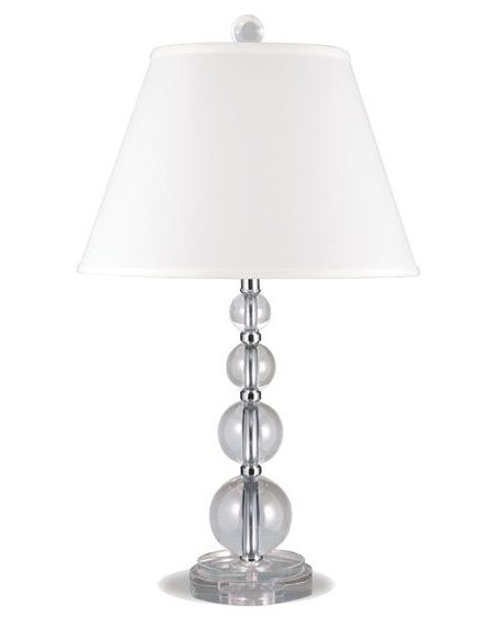 Stacked Crystal Table Lamp -- a versatile favorite! The allure of glass and crystal add a unique element to this bedside lamp. | cort.com