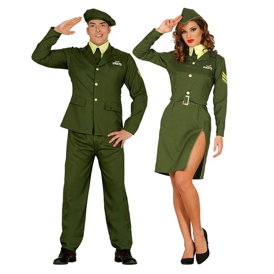 Pareja Militares de Gala #parejas #disfraces #carnaval #novedades2016