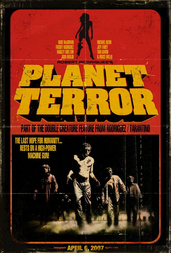 vintage movie posters planet terror movie poster