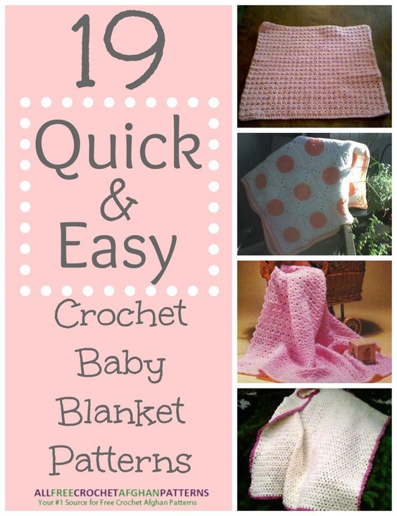 30+ Quick and Easy Crochet Baby Blanket Patterns | Ganchillo para ...