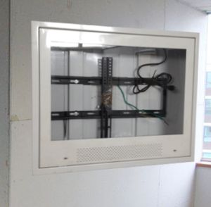 suicide resistant sloped tv enclosure