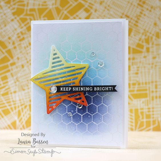 Laura Bassen using the Simon Says Stamp August card kit!