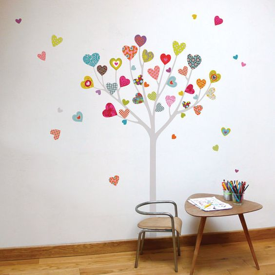 How adorable is this? Heart Tree  kid wall sticker by miaandcoADzif on Etsy, $35.00: