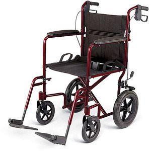 Medline Excel Deluxe Aluminum Transport Chair, 1 count