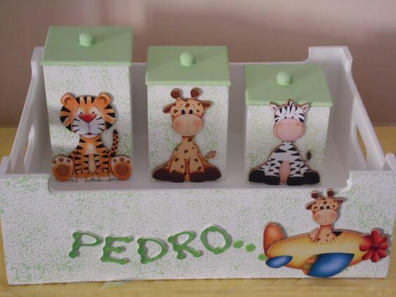 Kit Higiene Bebê 4pçs Safari Transporte