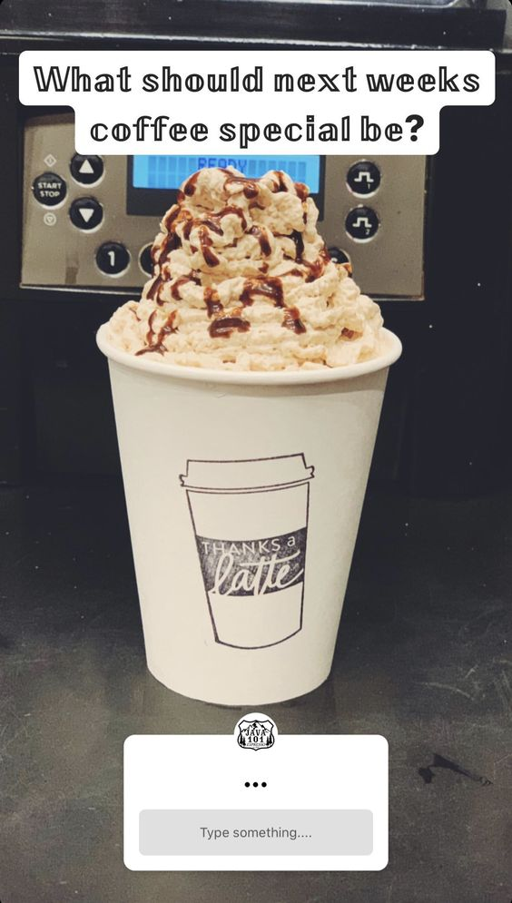 Coffee special instagram poll.