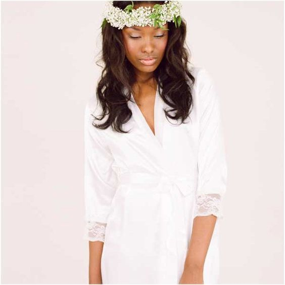 Wistful Knee Length Robe - Perfect for wedding days for the bride!