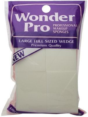 Wonder Pro Professional Makeup Sponges Large Full Sized Wedge #04100 8 Count