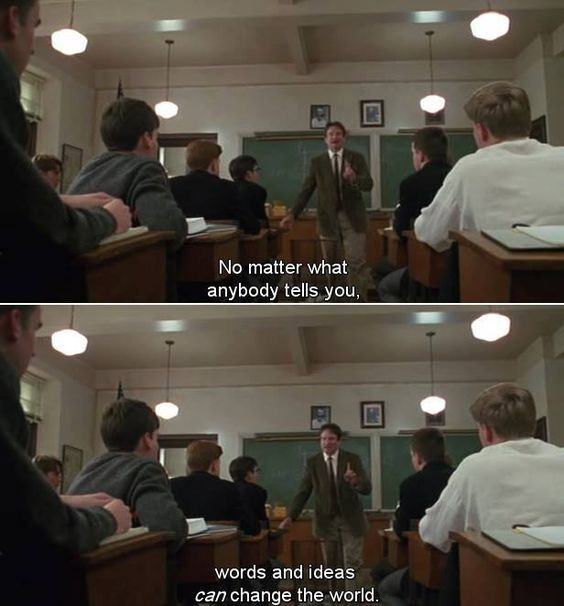 Dead Poets Society (1989) (Ethan's note saw this movie and definitely would recommend it)