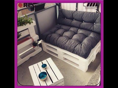 Diy Sofa Paletten Sofa Balkon Mobel Selber Bauen Youtube Sofa