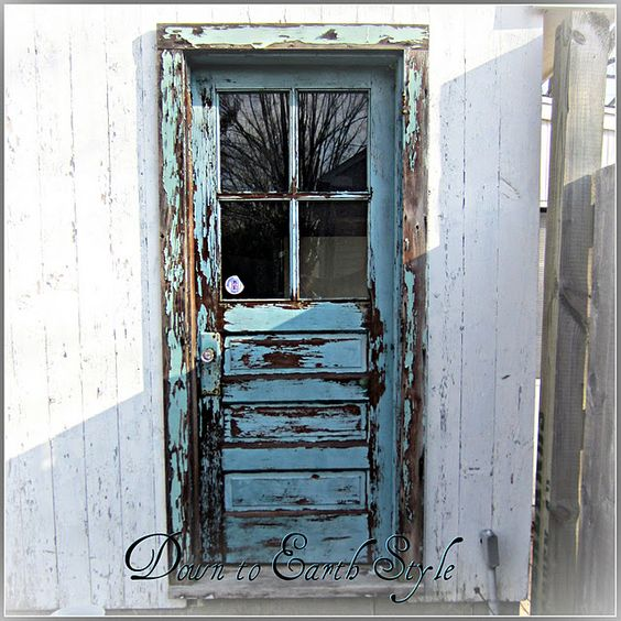 Chippy and Crusty Turquoise Door