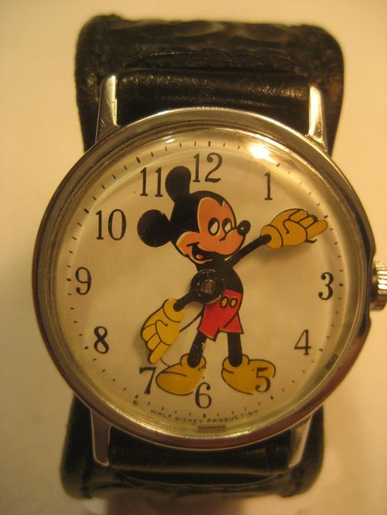 Mickey Mouse Wind Up Vintage Watch...