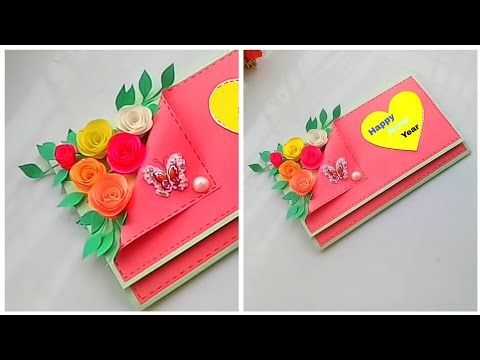 How To Make New Year 2019 Greeting Card Easy And Beautiful Greeting Card For New Year Youtube Greeting Card Video Greeting Card Craft Card Design Handmade