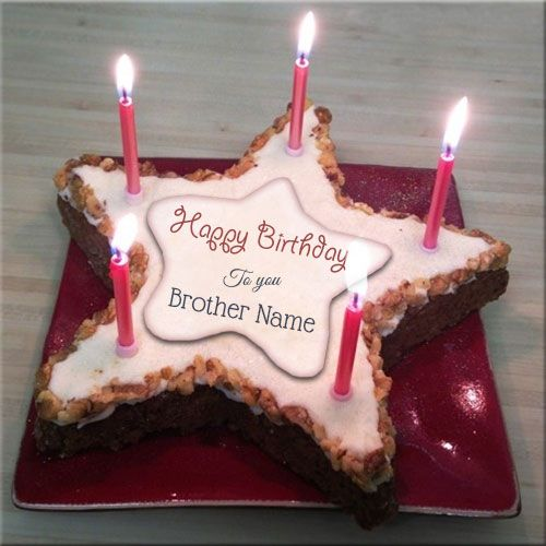 Write Name On Happy Birthday Cakes For Brother Birthday Cake For