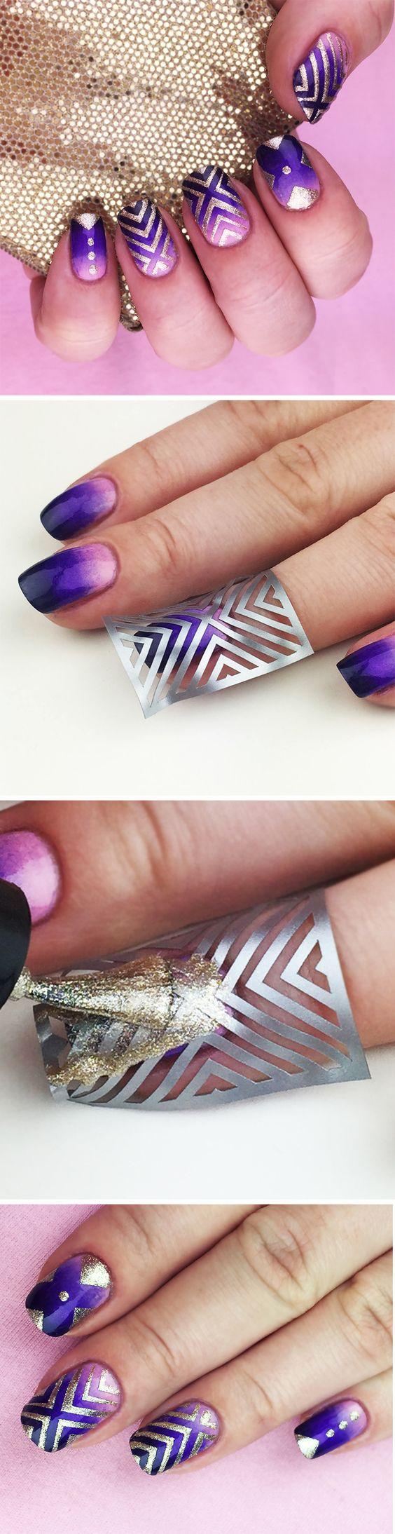 """Nail Stencils design """"Miss X"""":"""