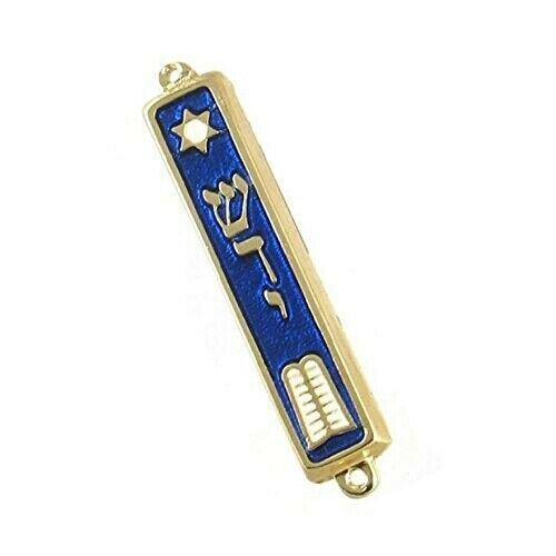 "10 Commandments Mezuzah 24k Gold Plated Jewish 2.7"" Mezuza Judaica Made in #MezuzahKlafScroll"