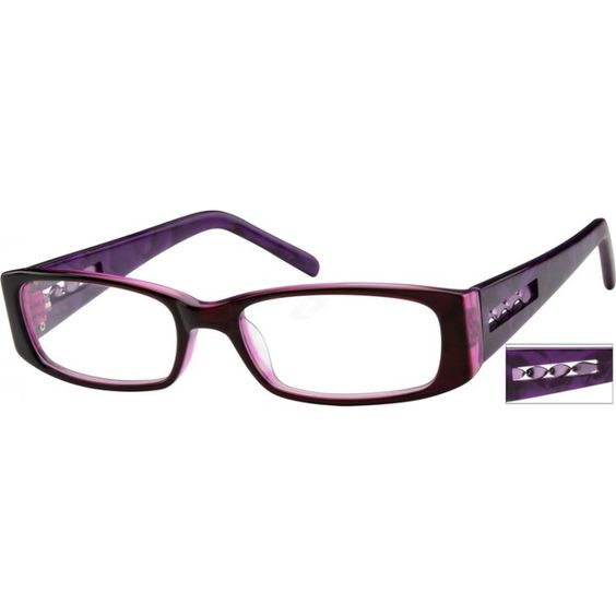Glasses Frames With Thick Arms : Acetate Full-Rim Frame with Design on Temples 611717 The ...