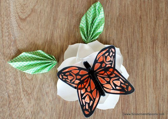 Paper & Tape Butterflies by Scissors, via Flickr