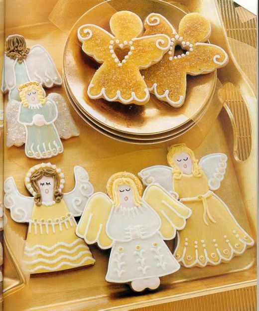Always have to have cookies to hang on the Christmas tree, or it may be angels made of wood.....