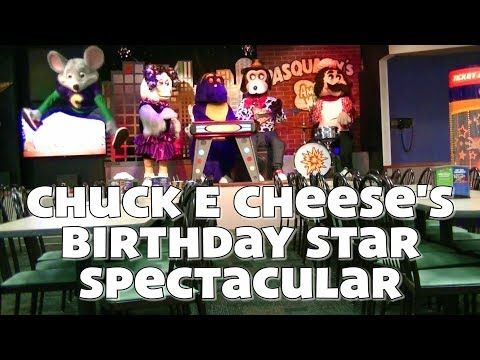 Birthday Star Spectacular 2018 Youtube With Images Birthday Star Chuck E Cheese Cheese Stars