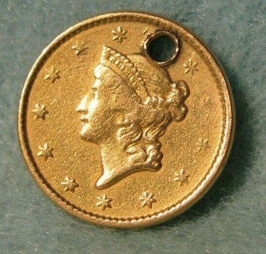1851 Liberty Head 1 One Dollar United States Gold Coin Better Grade Details Ebay Coins Gold Coins Canadian Coins