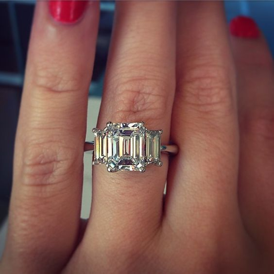 To tell Ring engagement and Emerald cut rings on Pinterest