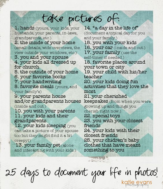 25-Day Challenge: Document your life in Photos!