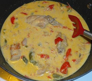 Paelo Rabbit in a Creamy Coconut Bell Pepper Sauce