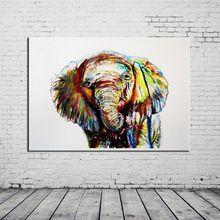 Gros 2015 Pop vente à la main gros Animal abstraite Elephant peinture à l'huile sur toile pour le salon décoration(China (Mainland))