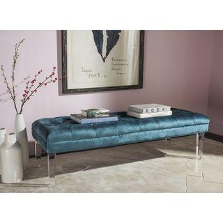 Shop for Safavieh Abrosia Cyan Acrylic Leg Bench. Get free shipping at…